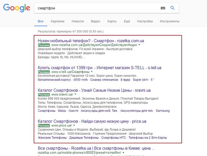 Контекстная реклама гугл адвордс google adwords цены